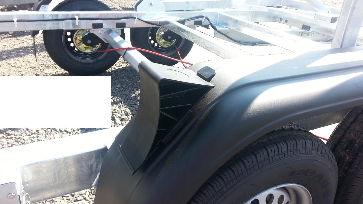 Kunststoffkotglügel inkl. Radkeil mit Halterung